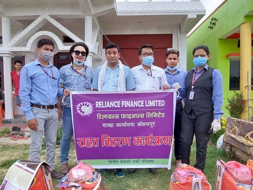 Reliance Finance Limited (Kohalpur Branch) Distributed Food Items